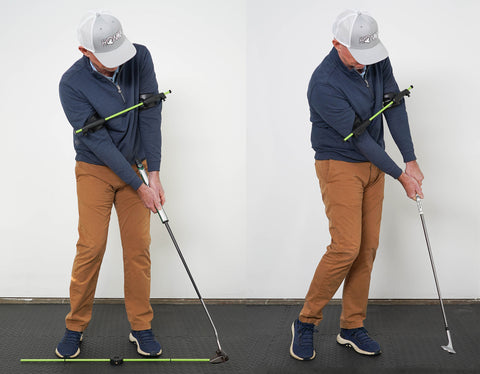 Chipping and putting with swing align short game