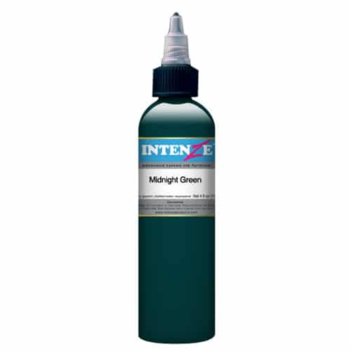 Intenze Tattoo Ink, Midnight Green