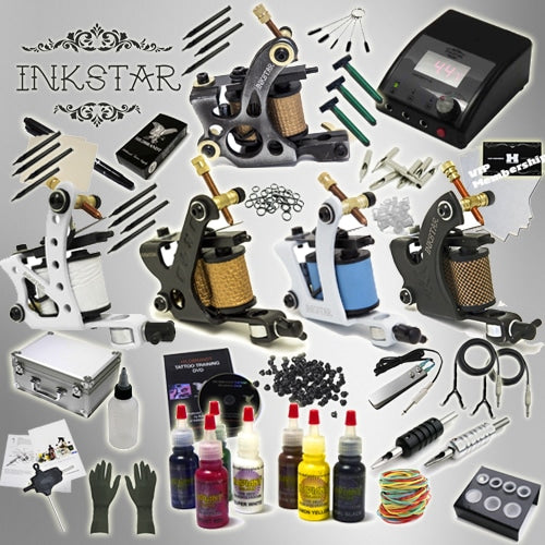 Tattoo Kit: 5 Machines, Radiant Pro Ink set and Case