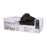 THINSENSE BLACK NITRILE GLOVES BULK 250 PACK
