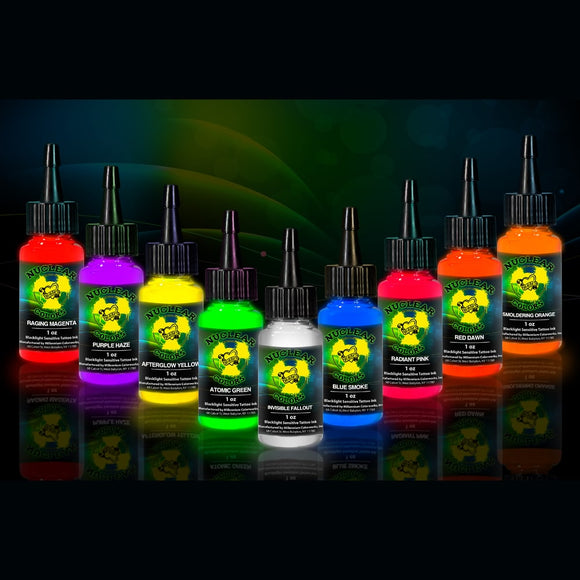 UV BLACKLIGHT NUCLEAR COLORS INK SETS