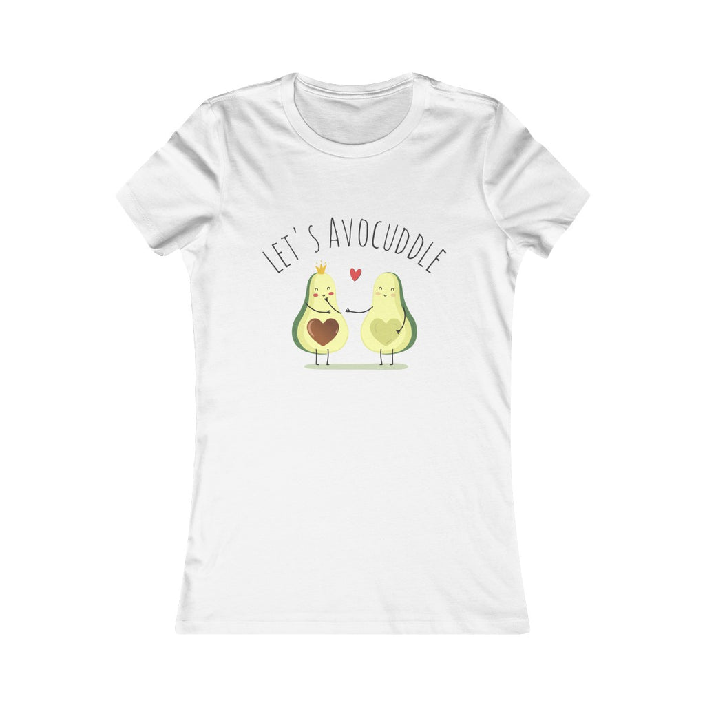 Let's Avocuddle - Women's Slim Fit T-Shirt - My Vegan Menu