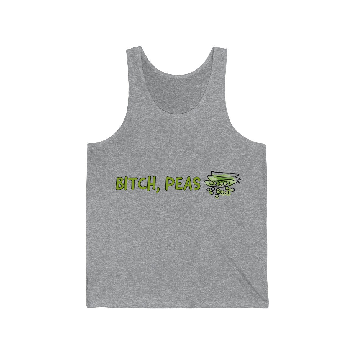Bitch, Peas - Vest - My Vegan Menu