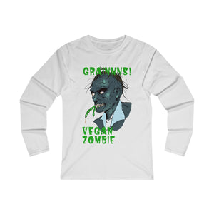 Grains, Vegan Zombie - Long Sleeve T-Shirt - My Vegan Menu