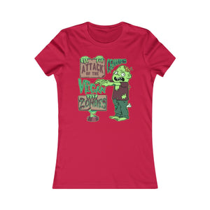 Attack of the Vegan Zombies - Women's Slim Fit T-Shirt - My Vegan Menu
