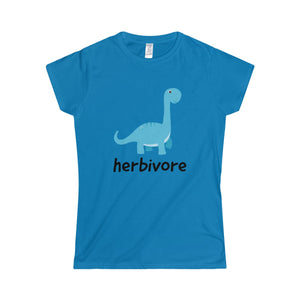 Cute Dinosaur Herbivore - Slim Fit T-Shirt - My Vegan Menu
