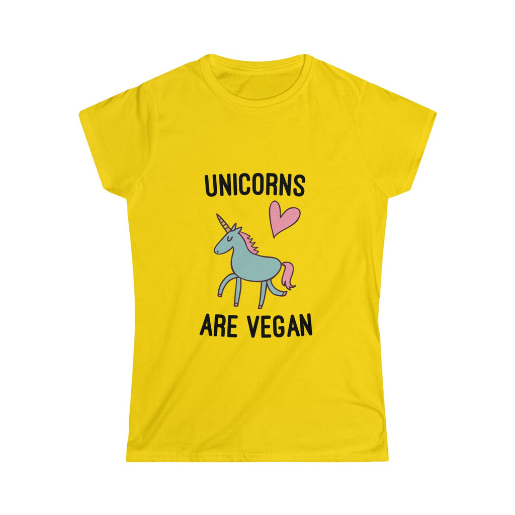 Unicorns are Vegan - Slim Fit T-Shirt - My Vegan Menu