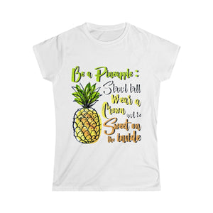Be a Pineapple - Women's Junior Fit T-Shirt - My Vegan Menu