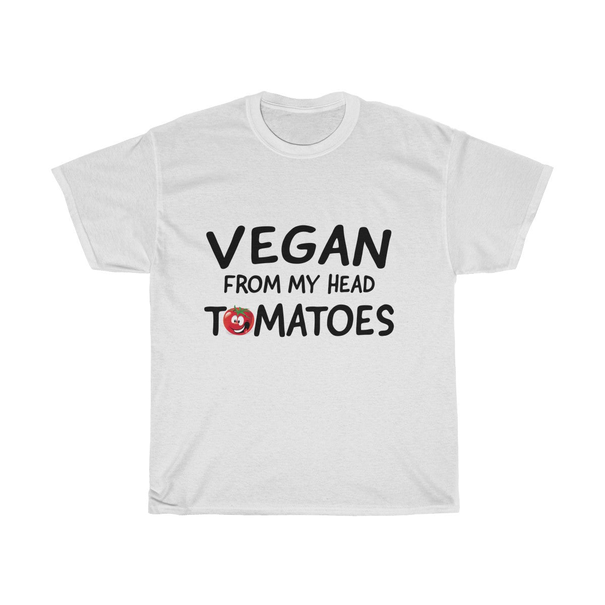 Vegan From My Head Tomatoes - Unisex T-Shirt - My Vegan Menu