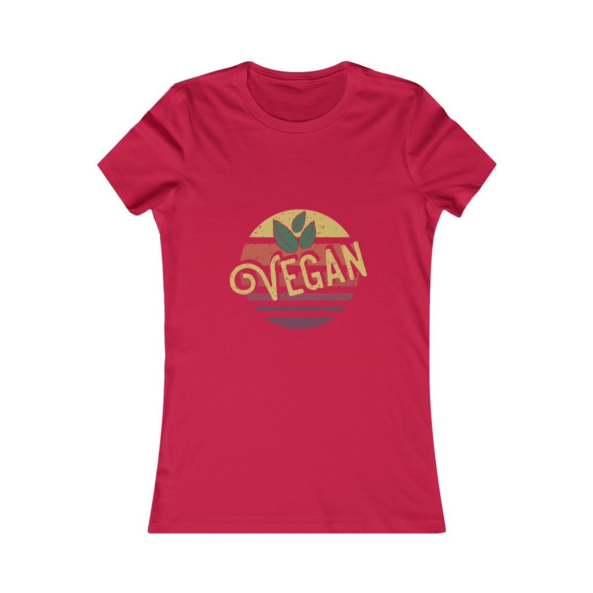70s Retro Vegan - Women's Slim Fit T-Shirt - My Vegan Menu