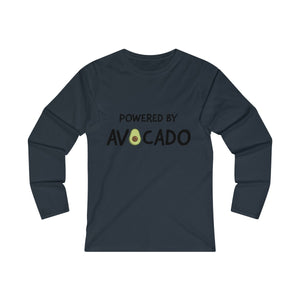 Powered By Avocado - Long Sleeve T-Shirt - My Vegan Menu