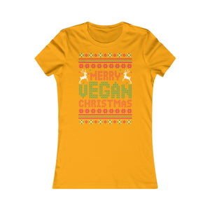 Merry Vegan Christmas - Women's Slim Fit T-Shirt - My Vegan Menu