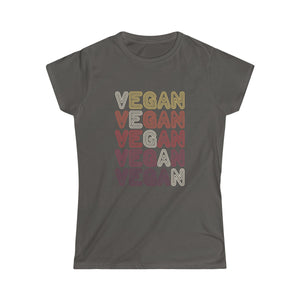 70s Retro Vegan II - Women's Junior Fit T-Shirt - My Vegan Menu