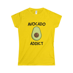 Avocado Addict - Slim Fit T-Shirt - My Vegan Menu