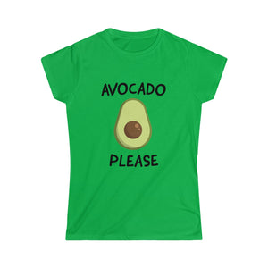 Avocado Please - Slim Fit T-Shirt - My Vegan Menu