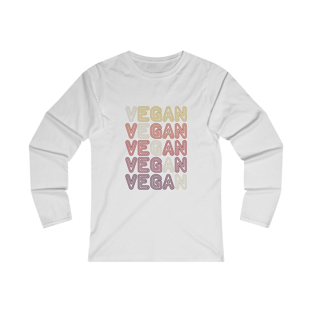 70s Retro Vegan II - Long Sleeve T-Shirt - My Vegan Menu