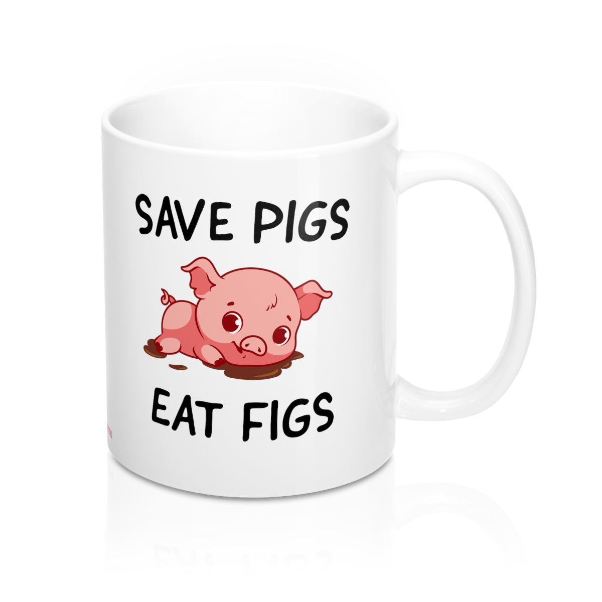 Save Pigs, Eat Figs - Mug - My Vegan Menu