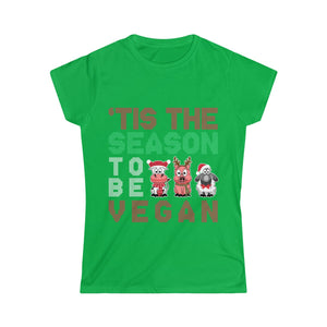 'Tis The Season To Be Vegan - Women's Junior Fit T-Shirt - My Vegan Menu
