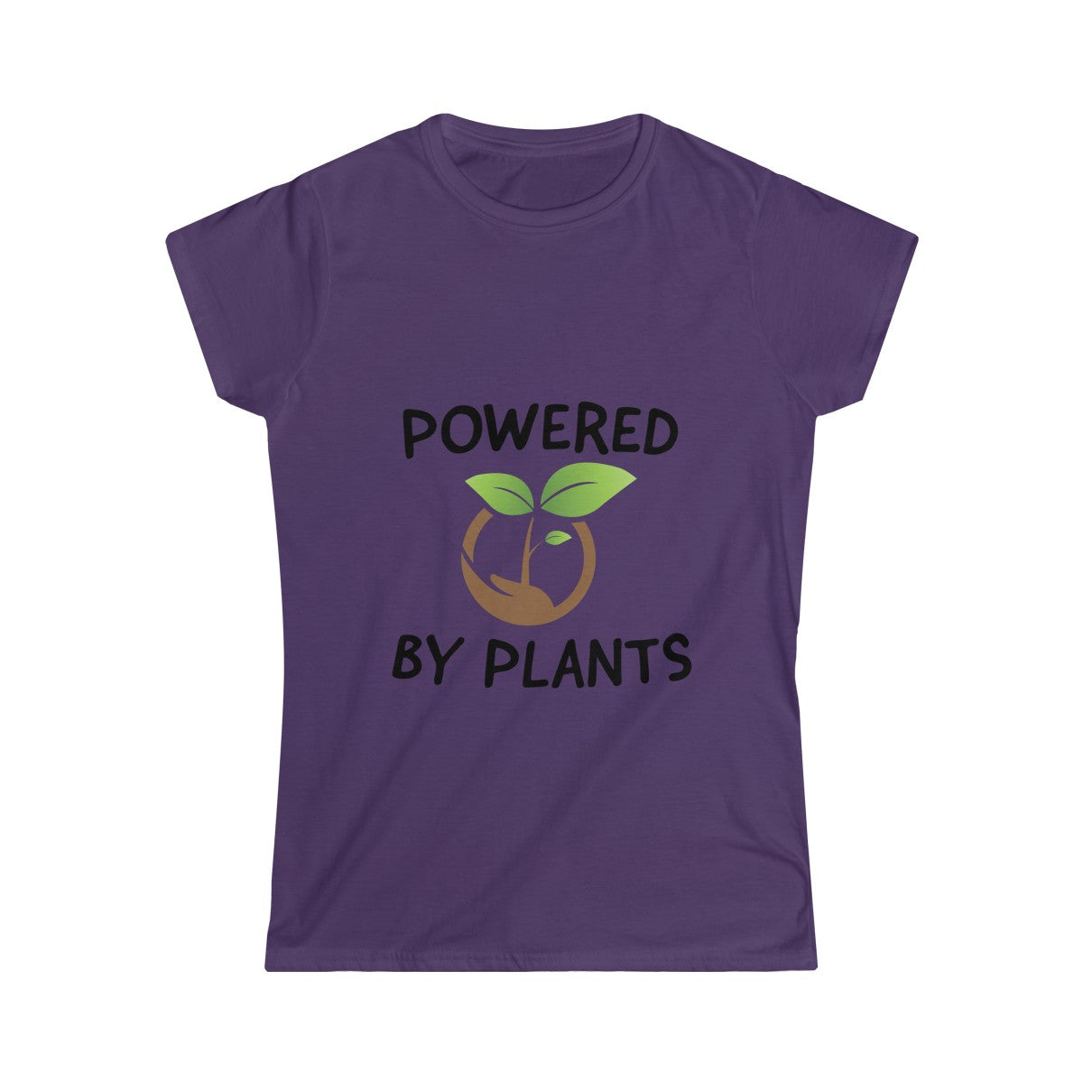 Powered By Plants - Slim Fit T-Shirt - My Vegan Menu