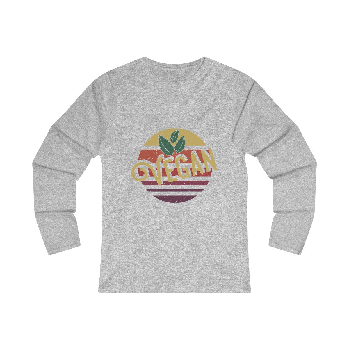 70s Retro Vegan - Long Sleeve T-Shirt - My Vegan Menu