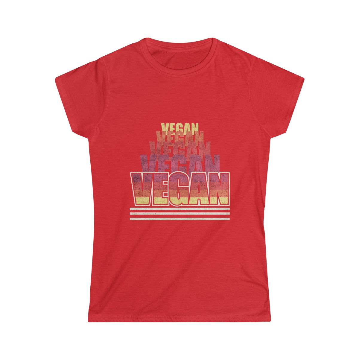 70s Retro Vegan III - Women's Junior Fit T-Shirt - My Vegan Menu