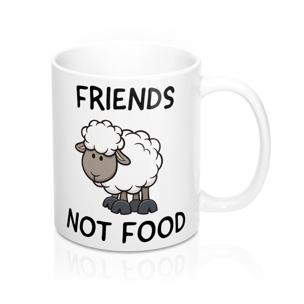 Friends Not Food (sheep) - Mug - My Vegan Menu