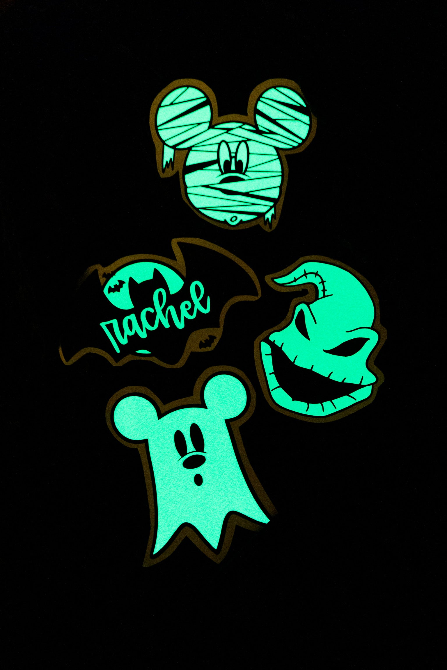 BAT IN THE NIGHT—GLOW IN THE DARK CUSTOM