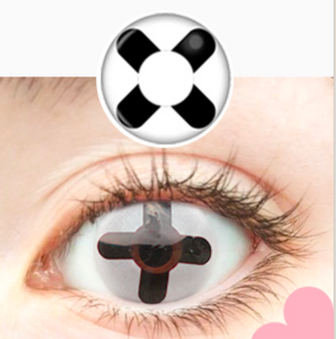Crazy Black Cross Halloween Contacts