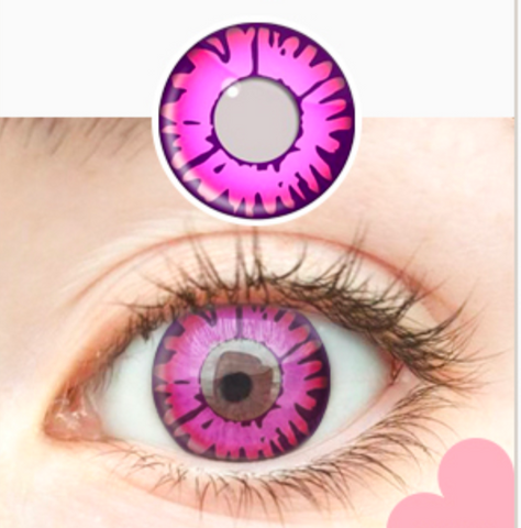 Crazy Enchanted Pink Halloween Contacts