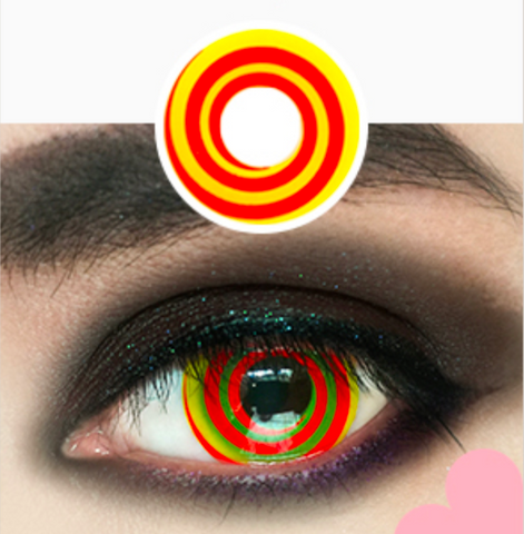 Crazy illusion Red Halloween Contacts
