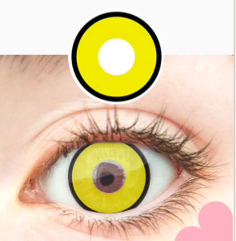 Crazy Yellow Manson Halloween Contacts