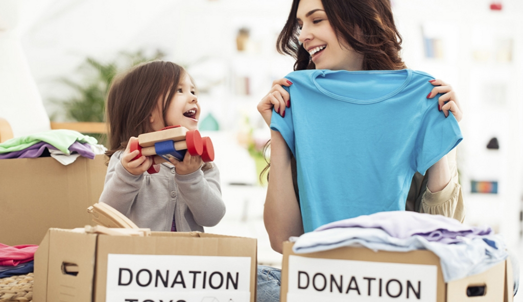 how do i get my kids interested in charity and giving