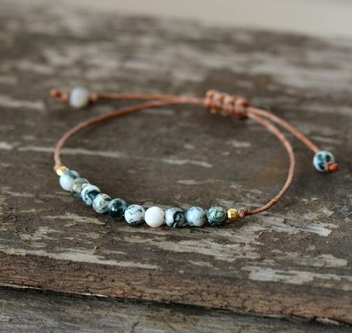 Simple Friendship Bracelet - Handmade Using Natural Stones