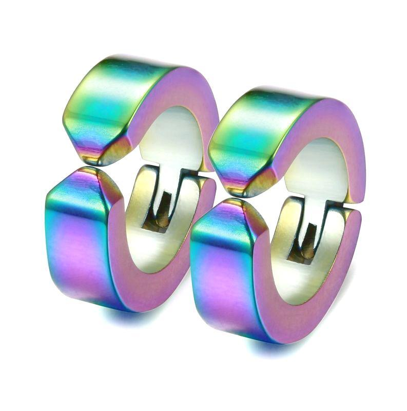 Clip-On Rainbow Earrings