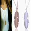 Feather Sweater Necklace