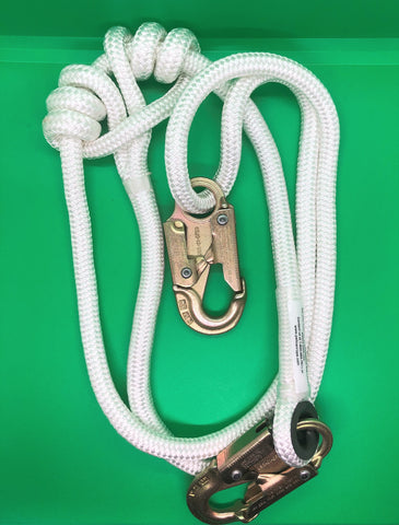 "1/2"" x 4' - 7' Adjustable Safety Lanyard"