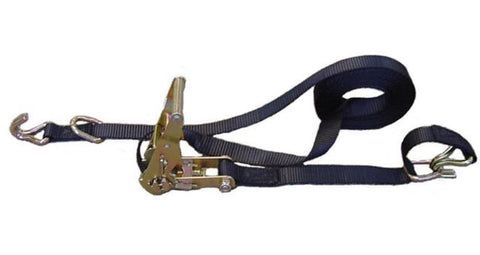 "All Gear 1"" x 16' Ratchet Strap w/ Grab Hooks and Floating ""D"" Ring"