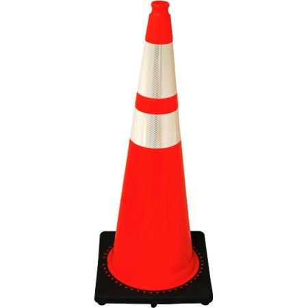 36in Safety Cone With Reflective Collars