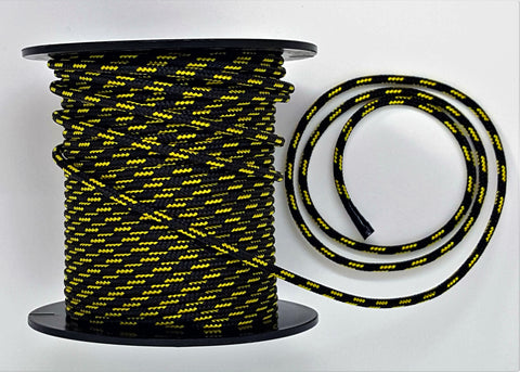 3 mm Accessory Cord - Black w Yellow
