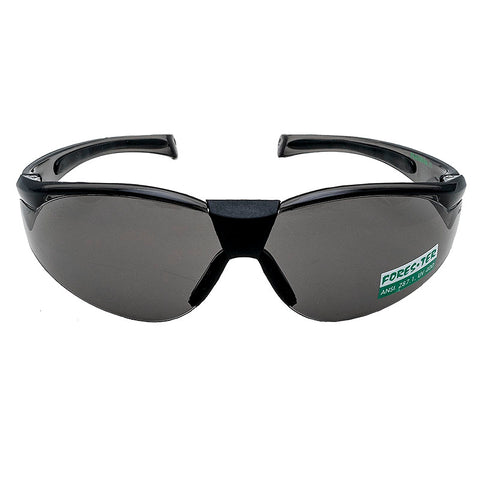 Forester Safety Glasses - Smoke Lens w Rubber Tip
