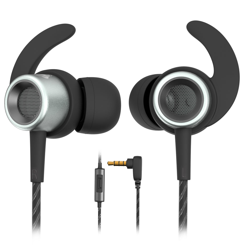 MINDBEAST Noise Cancelling Headphone in-Ear Wired Sport Earbuds