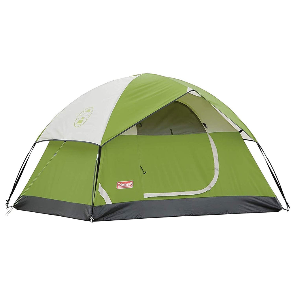 The Sundome 2 Person Dome Tent Features upto 33% more water resistant verses a comparable standard Coleman tent Weathertec System patented welded floors and inverted seams help keep water out. Snag-Free continuous pole sleeves for easy setup Ground Vent for increased ventilation. Perfect tent for outdoor adventure, camping, or hiking.