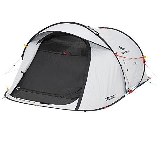 quechua 2 seconds waterproof pop up camping tent for hiking or any outdoor adventure