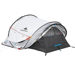 quechua 2 seconds waterproof pop up camping tent for camping, hiking or any outdoor adventure