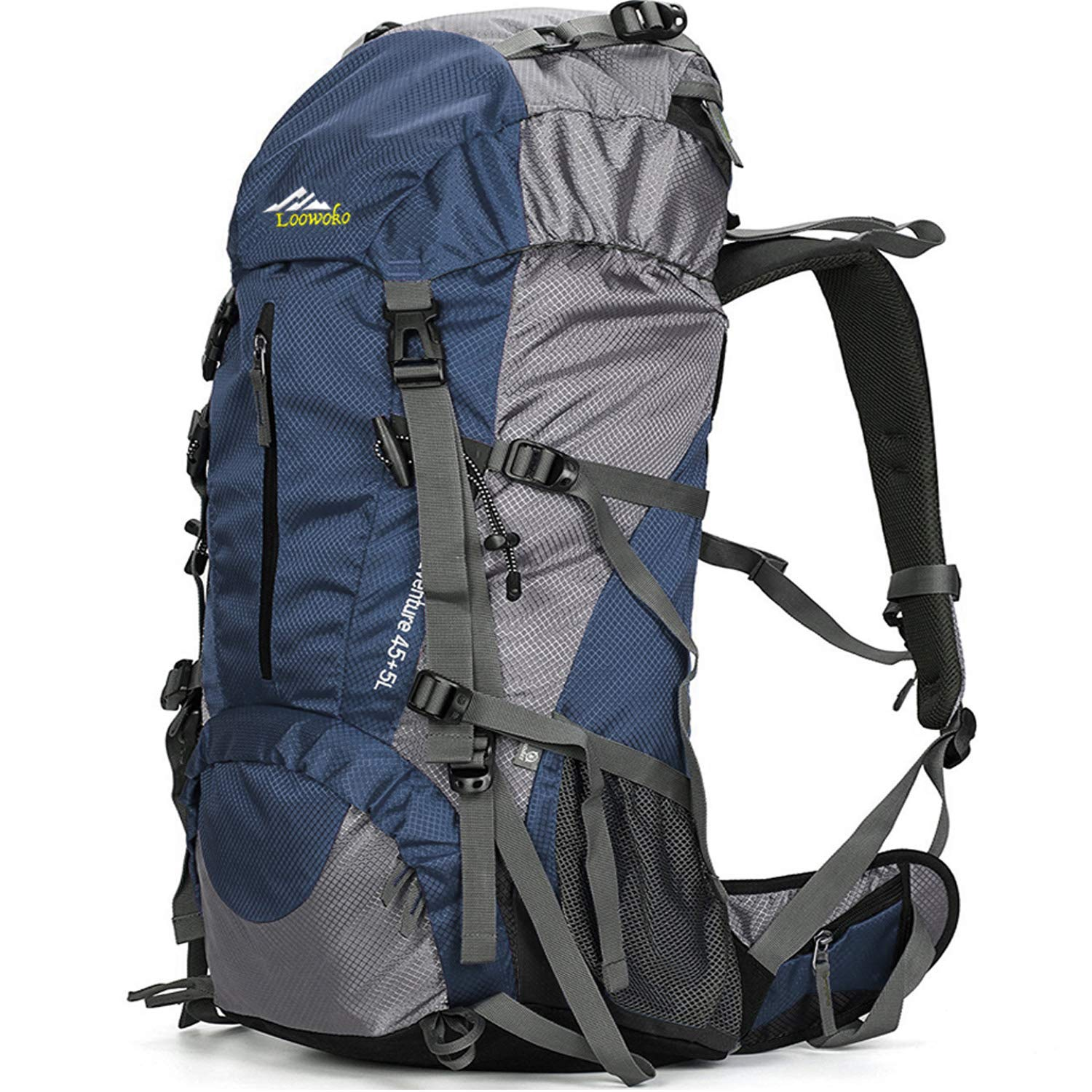 Gear up for your next great outdoor adventure with the Loowoko 50L Hiking Daypack with Rain Cover.