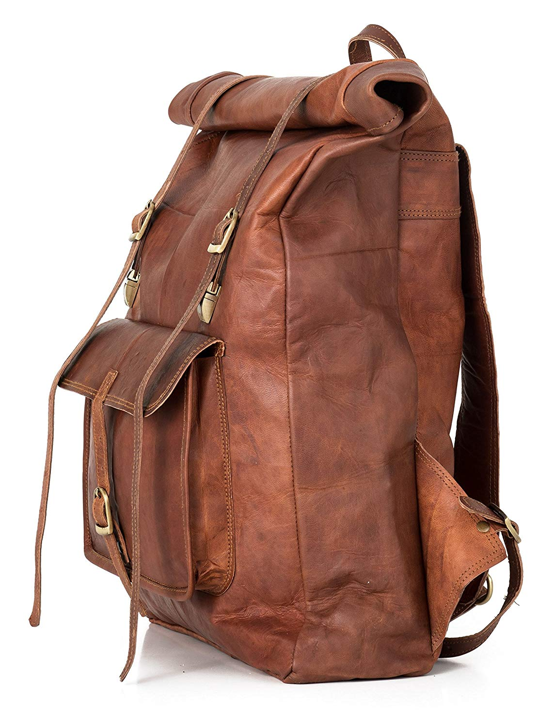 Each of our Vintage backpack is crafted with carefulness and care entirely by hand.
