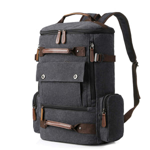 This travel backpack made of canvas material is lightweight and ideal for daily commutes.