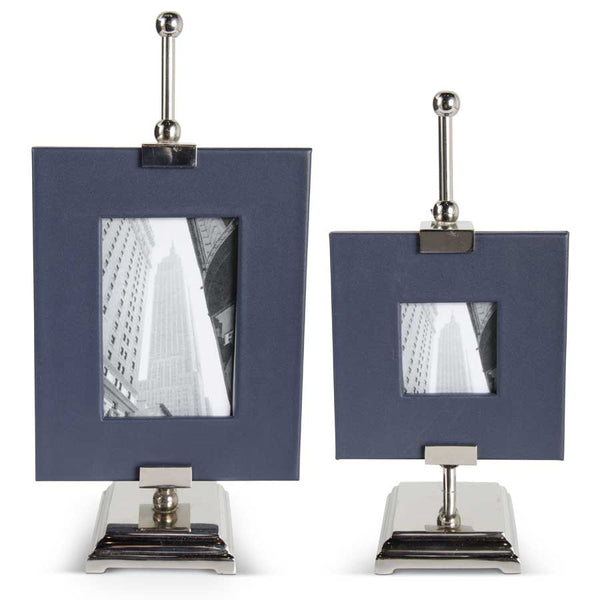 Royal Blue Leather Photo Frames