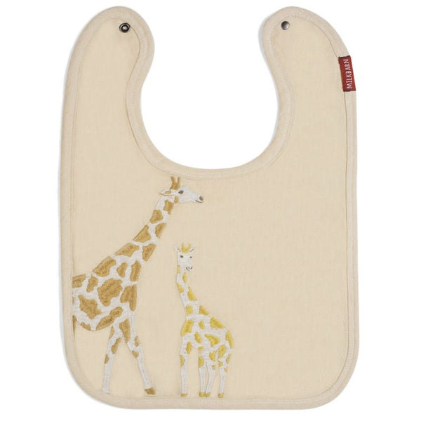 Applique Linen Bib-choose from 4 different animals