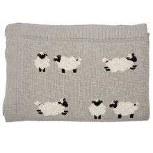 Load image into Gallery viewer, Sheep Knitted Baby Blanket